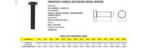 Parafuso Cabeça Sextavada Rosca Inteira Aço Carbono Classe 5.8