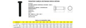 Parafuso Cabeça Sextavada Rosca Inteira Aço Médio Carbono 8.8