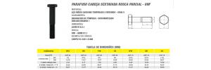 Parafuso Cabeça Sextavada Rosca Parcial UNF Aço Médio Carbono 8.8