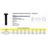 Parafuso sextavado estrutural - ASTM A325 aço médio carbono Temperado - A325