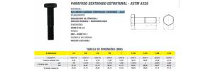 Parafuso sextavado estrutural - ASTM A325 aço médio carbono Temperado