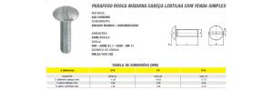 Parafuso Rosca Máquina Cabeça Lentilha Com Fenda Simples