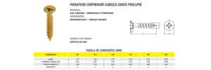 Parafuso Chipboard Cabeça Chata Phillips