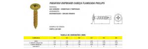 Parafuso Chipboard Cabeça Flangeada Phillips