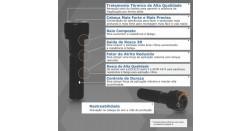 Parafuso Allen Cabeça Cilíndrica com Sextavado Interno Milímetro Aço Inox 304 A2