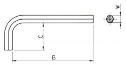 Chave Hexagonal Allen Braço Curto