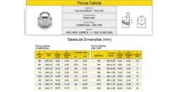 Porca Calota Aço Inox A2 Classe 18.8 Rosca Grossa