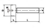 Parafuso Fenda Máquina Aço Carbono Simples Redonda Rosca WW