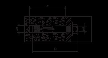 Tabela Técnica Chumbador para Concreto Alfa